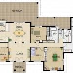Plano de casa para construir de 5 habitaciones
