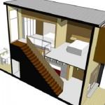 Plano de duplex con patio