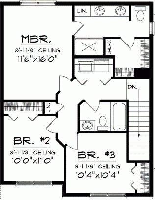 Plano de casa tradicional