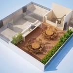 Diseño de terraza para departamento