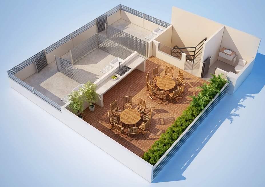 terraza para departamento