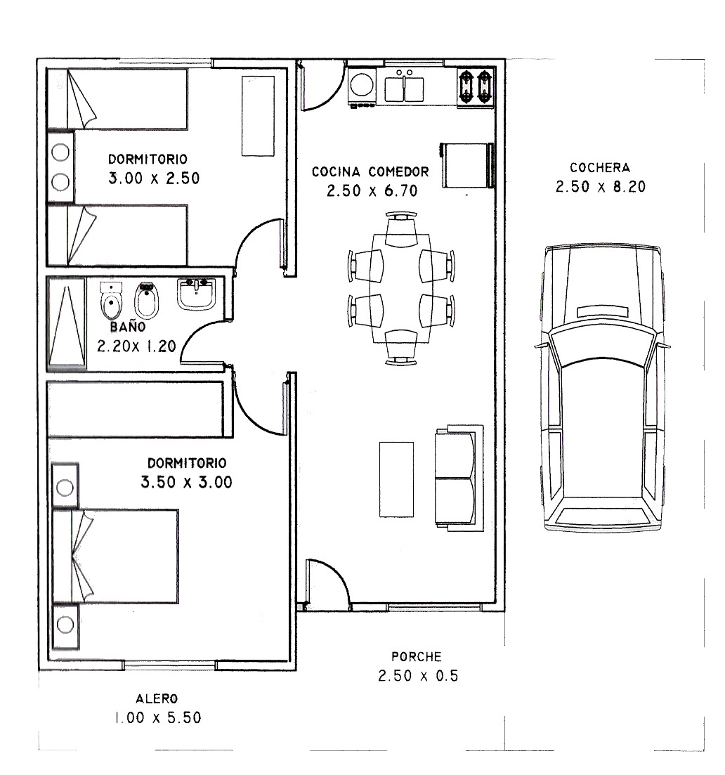 Casas de 100 metros cuadrados construidos planos de casas - Planos de casas de 100 metros cuadrados ...