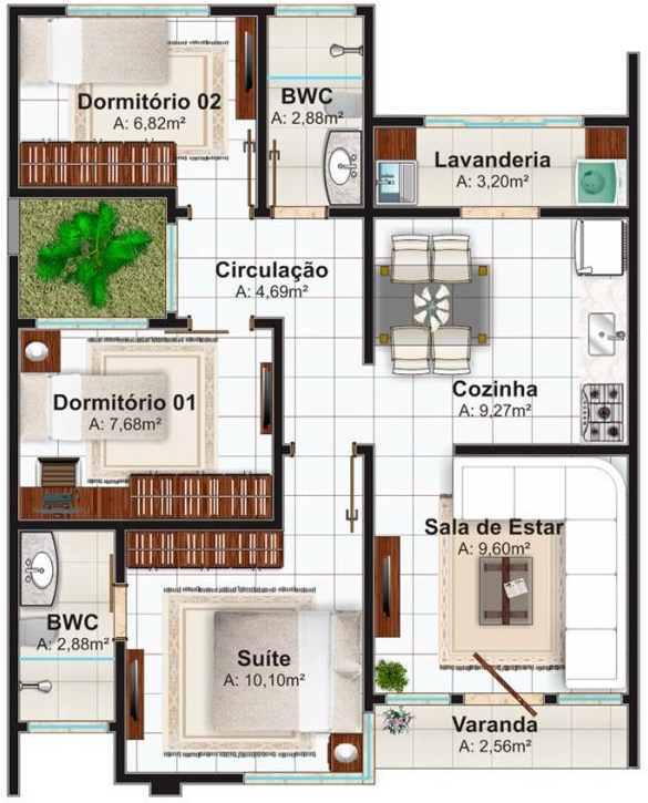 Planos de casas confortables gratis