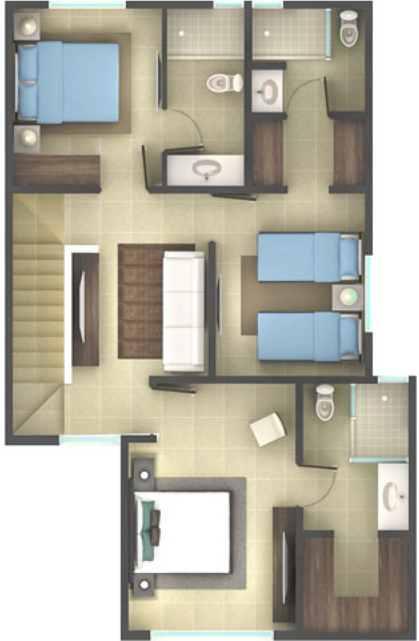 Segundo piso del plano