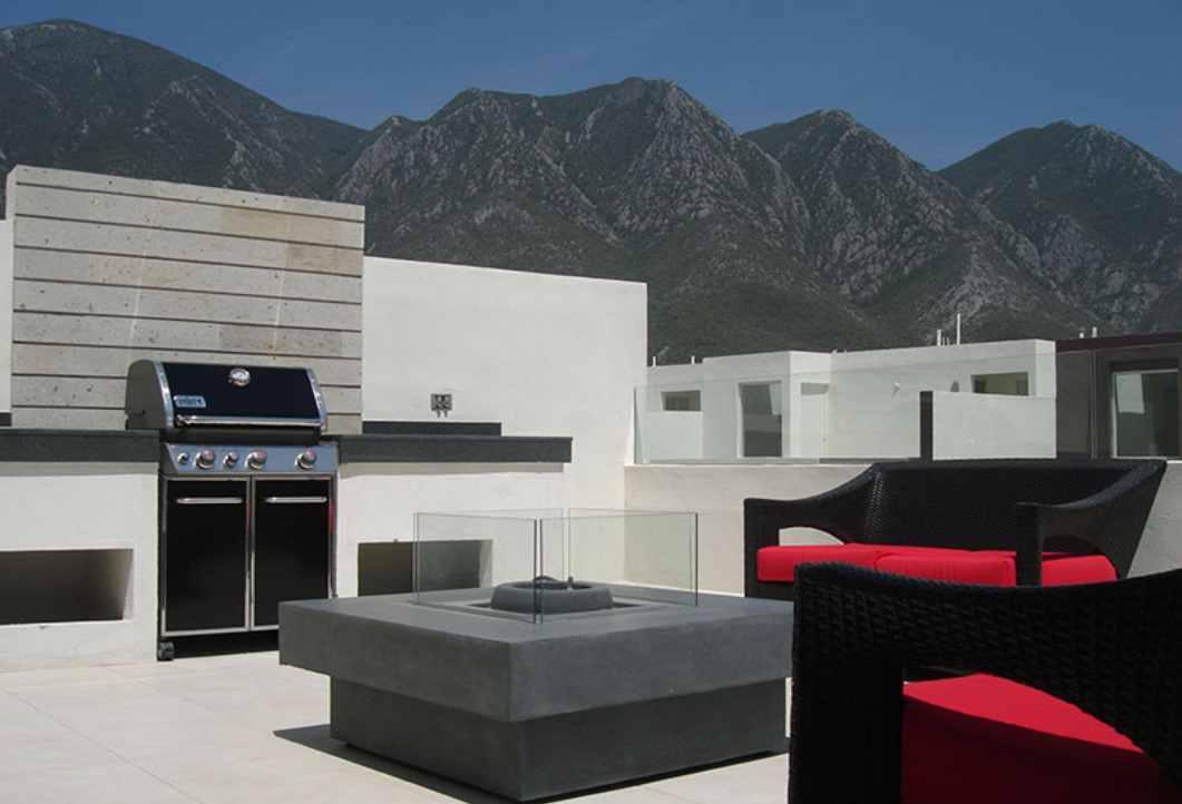 Terraza plano de casa moderna