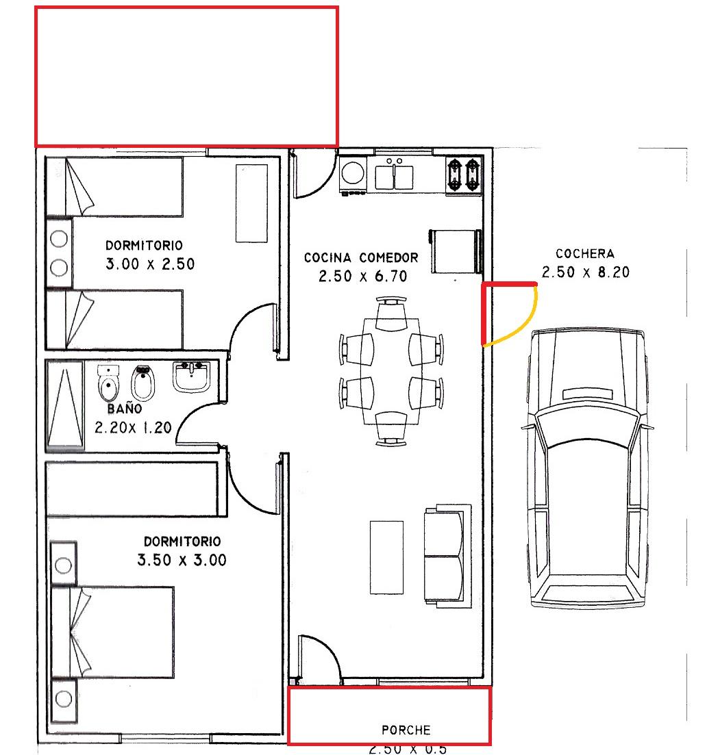 Casas con cochera en 60 metros planos de casas - Piso de 60 metros cuadrados ...