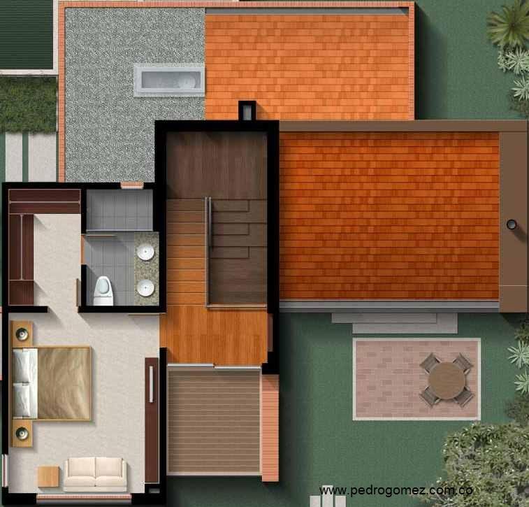 Plano de casa amplia