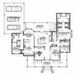 Plano de casa grande con galería