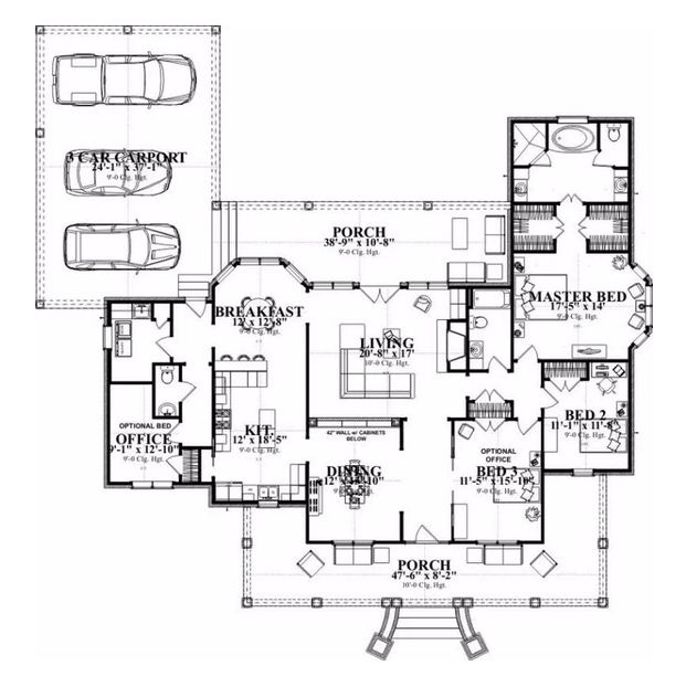 Planos de casas grandes con medidas - Planos de casas grandes ...