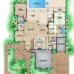 Plano de casa lujosa