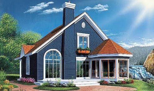 Fachada de casa estilo victoriano