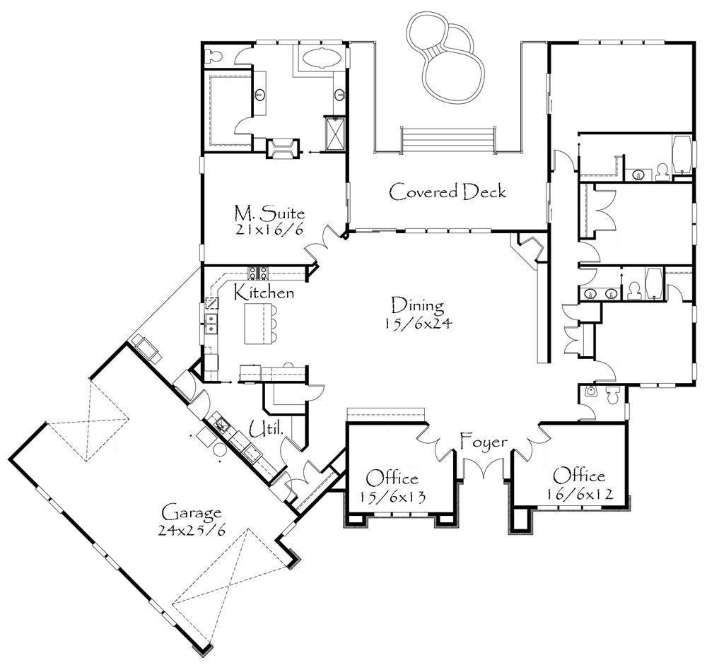 Fachadas de oficinas pequenas for Planos de oficinas administrativas
