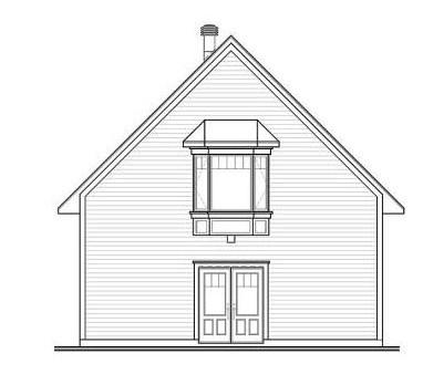 Contrafachada de casa pequeña de dos pisos
