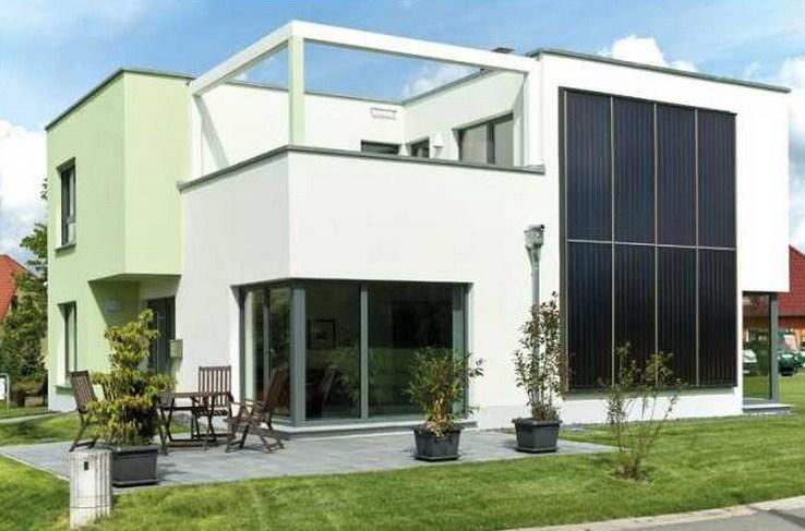 Plano de casa de dos plantas for Fachadas para casas de dos plantas