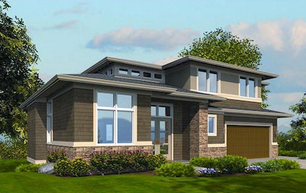 Plano de casa de 2 pisos y 3 dormitorios