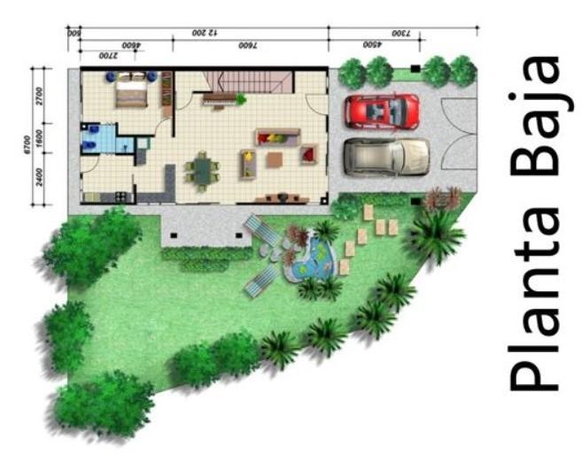 Fachadas de segunda planta con terraza for Planos de jardines