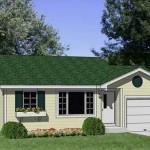 Plano de casa prefabricada de 2 dormitorios