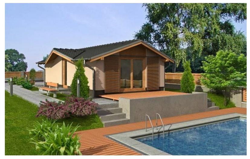 contrafachada casa rectangular