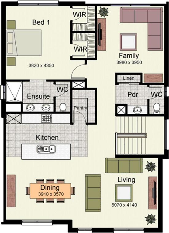 Planos de casas 7x12 - Planos de casas de 100 metros cuadrados ...