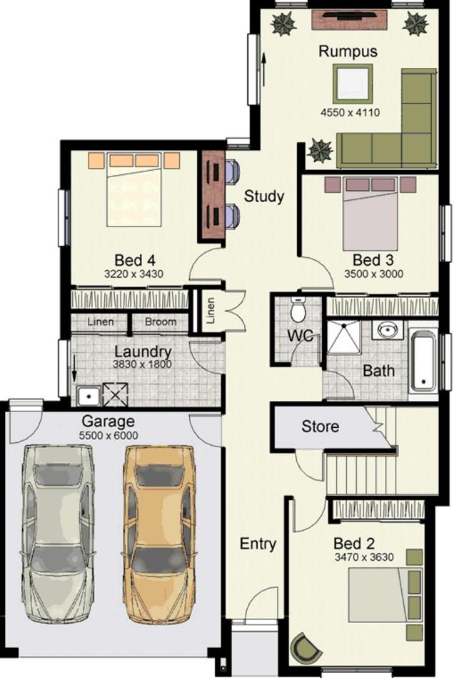 Planos casas de 4 dormitorios planos de casas - Planos casa una planta ...