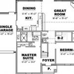 Planos de casas de una planta 2 dormitorios