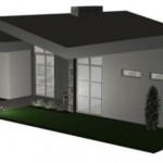 Plano de casa grande con 3 dormitorios