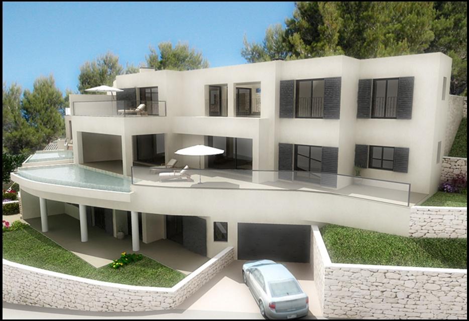 Casas modernas for Planos de viviendas modernas