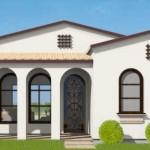 Plano de casa de estilo colonial