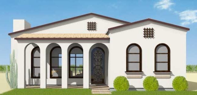 Fachada de casa de estilo colonial