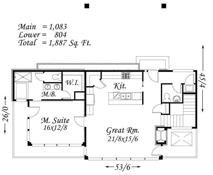 Plano de casa con cochera doble