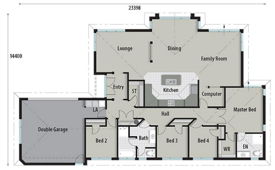 Casa de ladrillos vistos con 240 metros cuadrados