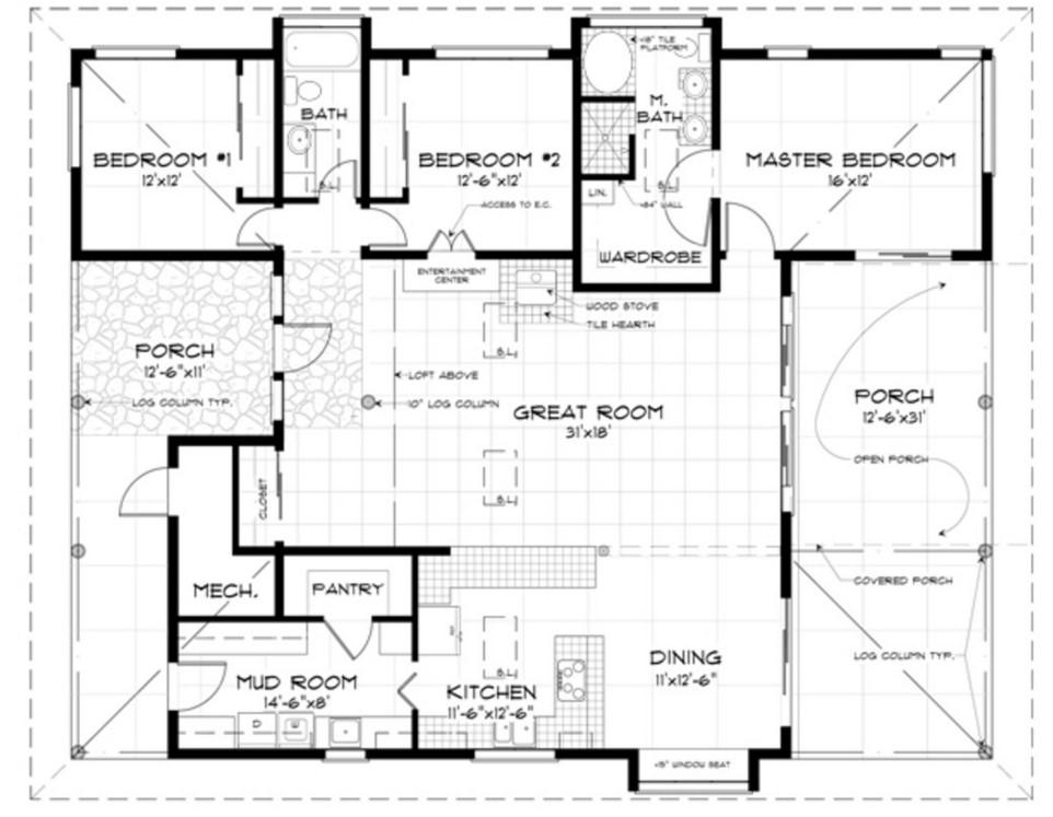 Casas rusticas for Planos de casas de 24 metros cuadrados