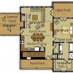 Plano de casa con terraza