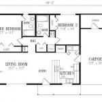 Plano de casa de 14 x 8 m