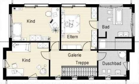 Plano de casa de 2 pisos 3 habitaciones