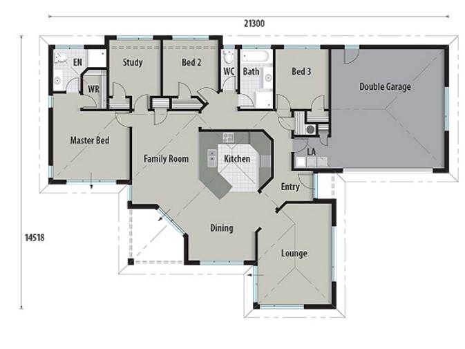 Plano de casa de 200 metros cuadrados revestida en ladrillos