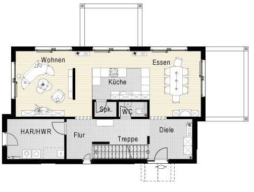 3 ba os for Planos de casas de dos plantas modernas
