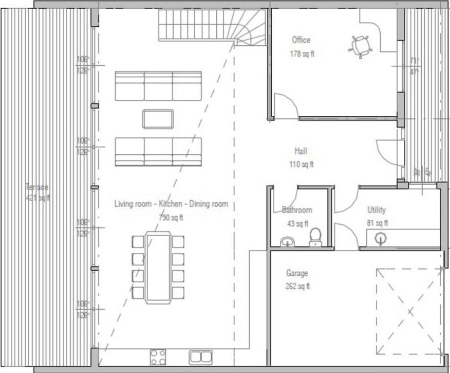 casa de concreto o block