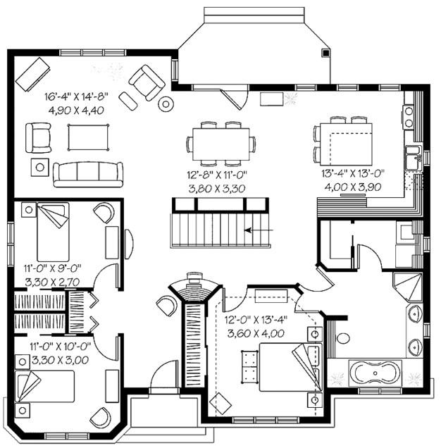Diseño de casa colonial de un piso