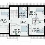 Plano de casa de 13 x 9 m