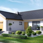 Plano de casa de un piso y tres habitaciones
