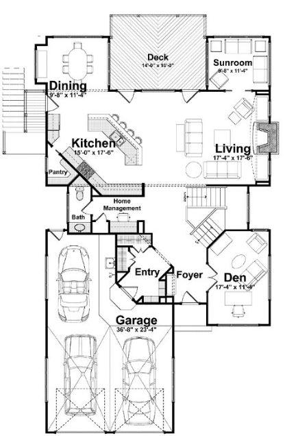 Modelos de casas modernas de 3 dormitorios  con cochera