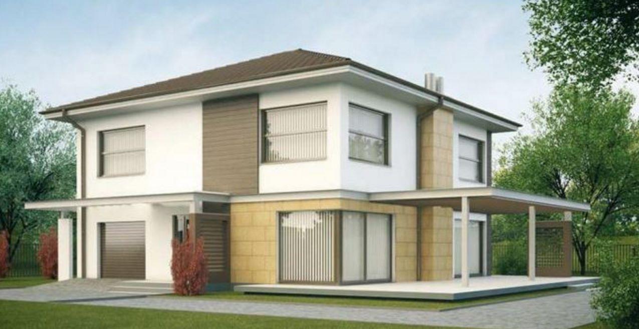 Plano de casa moderna de lujo