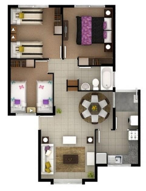 Planos de casas peque as planos de casas - Como distribuir una cocina pequena ...