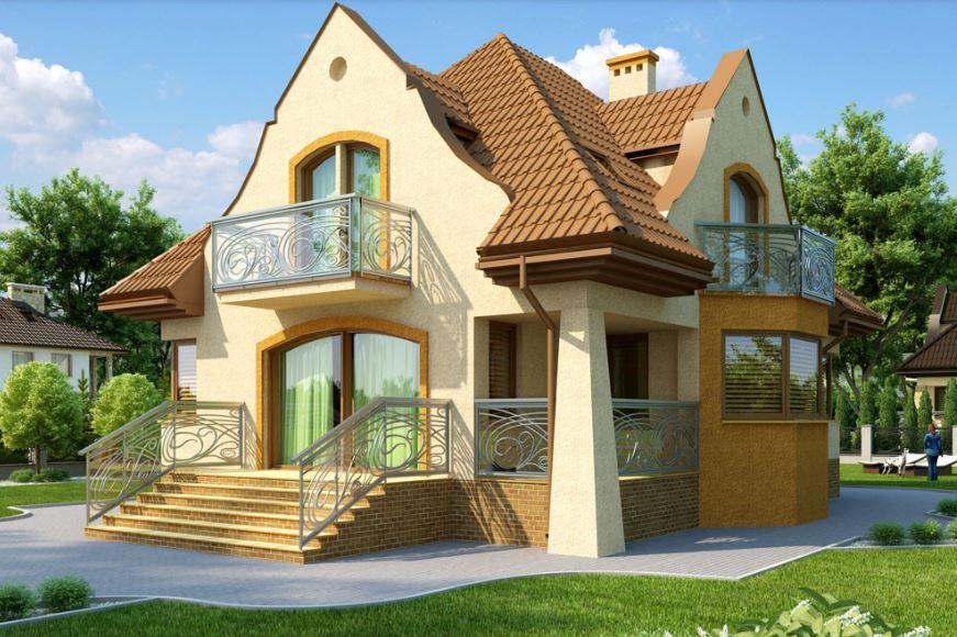 Fachadas de casas de 260 metros cuadrados