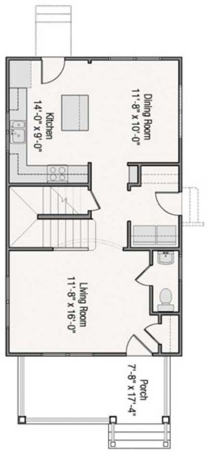 planos de casas 8 x 4