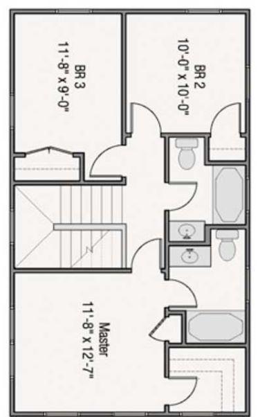 Planos de casas pequeñas de 8 × 4