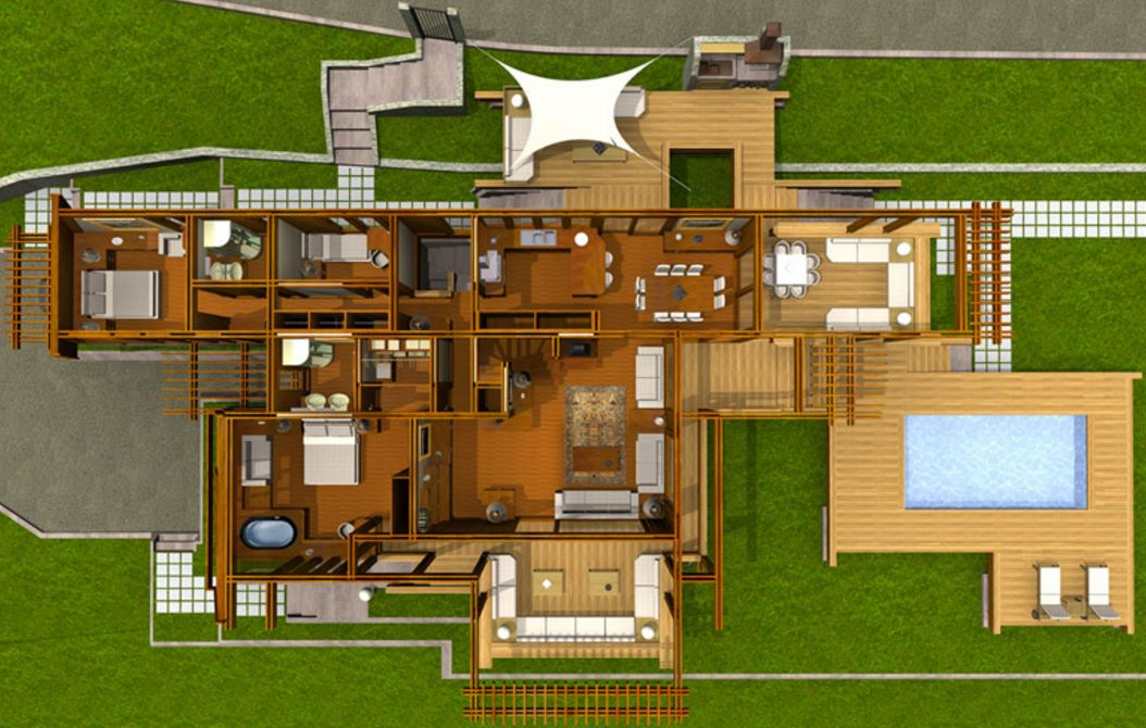 42 plano 1 planta 100 metros cuadrados rectangular for Creador de planos sencillos para viviendas y locales