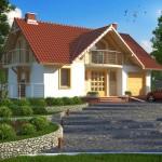Planos de casas con balcon y chimenea