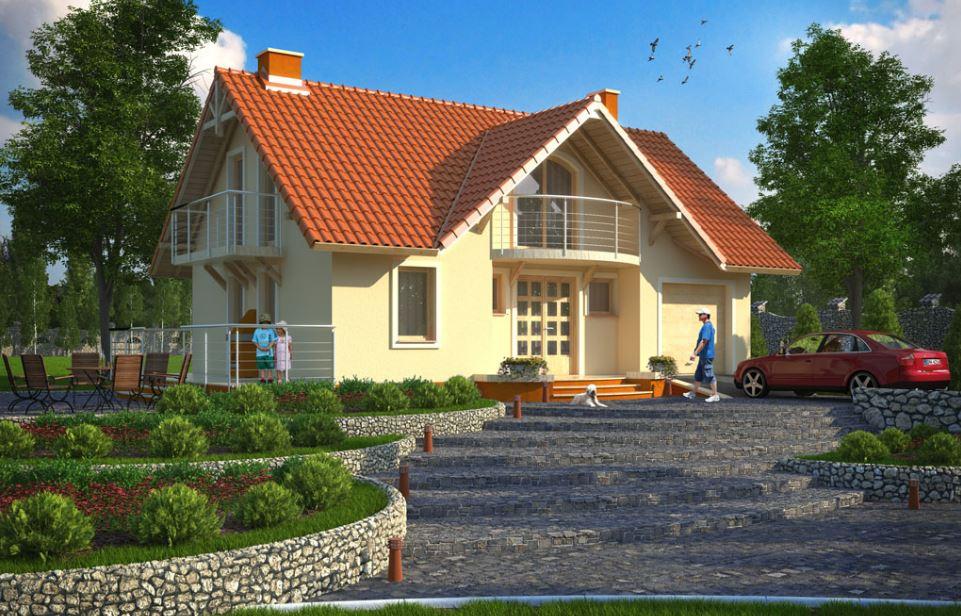 Fotos de casas con balcon y chimenea